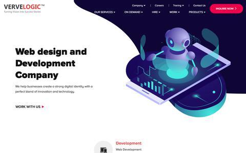 Screenshot of Home Page vervelogic.com - Web Design & development company India, Jaipur - vervelogic - captured Feb. 24, 2019