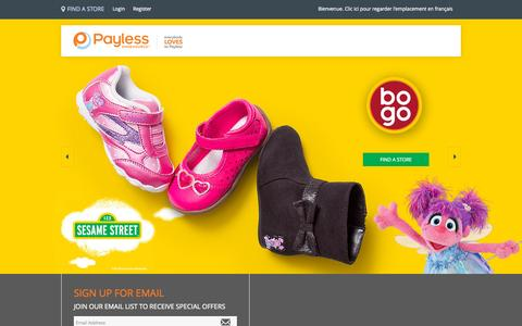 Screenshot of payless.com - Payless ShoeSource   Shoes, Boots, Sandals, Designer Shoes & Handbags - captured Sept. 20, 2015