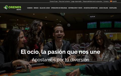 Screenshot of Home Page orenesgrupo.com - Orenes Grupo | Especialistas en entretenimiento y ocio - captured Dec. 11, 2018