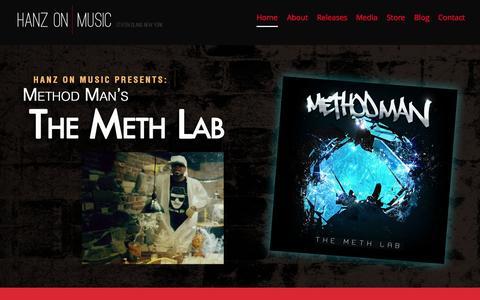 Screenshot of Home Page hanzonmusic.com - Hanz On Music | Staten Island Record Label - captured Sept. 26, 2015
