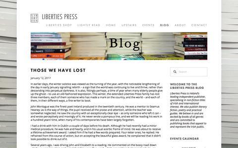 Screenshot of Blog libertiespress.com - Blog — Liberties Press - captured May 18, 2017
