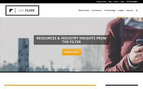 Screenshot of thefilter.com - Insights - The Filter - captured March 19, 2016