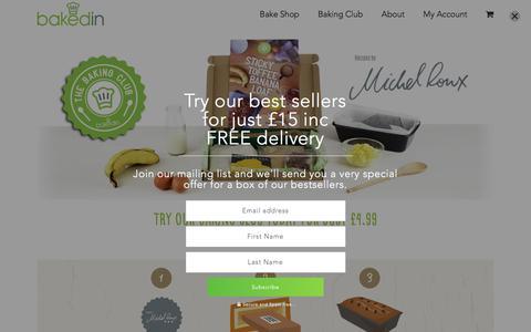 Screenshot of Home Page bakedin.co.uk - BakedIn Ltd - captured Feb. 7, 2016