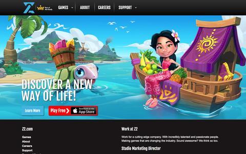 Screenshot of Home Page z2.com - Z2   Home - captured Jan. 15, 2016