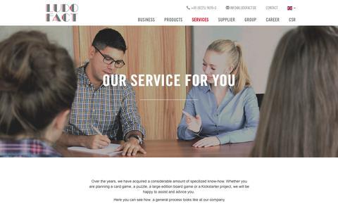 Screenshot of Services Page ludofact.de - Services - ludofact.de - captured Sept. 29, 2018