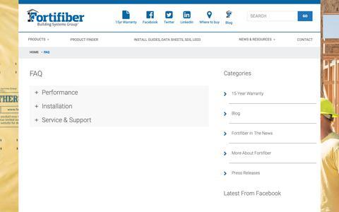 Screenshot of FAQ Page fortifiber.com - FAQ - Fortifiber - captured Oct. 10, 2018