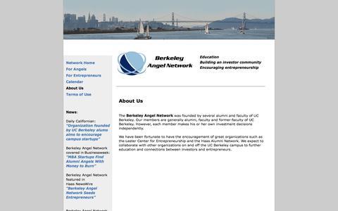 Screenshot of About Page berkeleyangelnetwork.com - Berkeley Angel Network - Terms of Use - captured Jan. 1, 2016