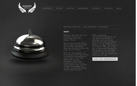 Screenshot of About Page magnumservices.ae - Personal Concierge Services in Dubai: Magnum Services - captured Oct. 4, 2014