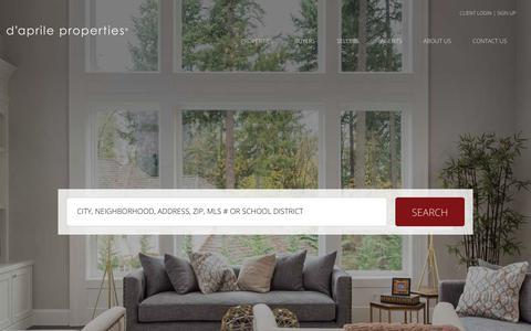 Screenshot of Home Page daprileproperties.com - d'aprile properties - daprile properties - company - captured Nov. 20, 2019