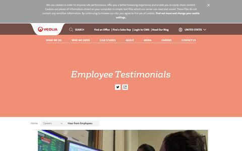 Employee Testimonials | Veolia North America