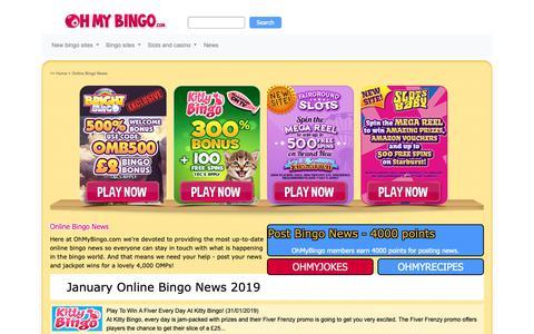 Screenshot of Press Page ohmybingo.com - Online Bingo News from OhMyBingo | New Bingo Sites Updates - captured Jan. 31, 2019