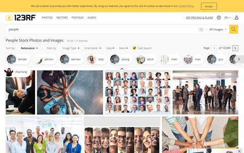 Screenshot of Team Page 123rf.com - People Stock Photos And Images - 123RF - captured Sept. 7, 2019