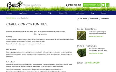 Screenshot of Jobs Page perfectlygreen.co.uk - Career Opportunities with Perfectly Green - Job Openings - captured Sept. 27, 2018