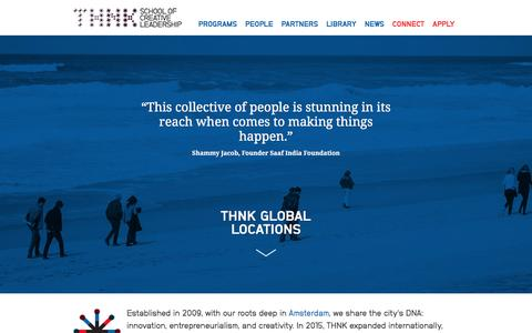 Screenshot of Locations Page thnk.org - Global Locations for Creative Leadership - THNK - captured Nov. 17, 2016
