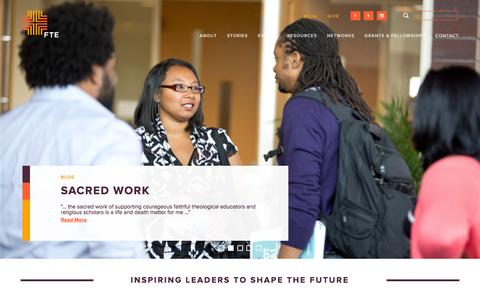 Screenshot of Home Page fteleaders.org - Forum for Theological Exploration - captured Feb. 10, 2016