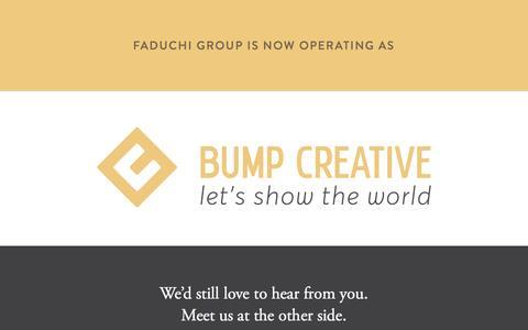 Screenshot of Home Page faduchigroup.com - Faduchi Group   Brand, Web, Etcetera in Burlington, Ontario - captured Aug. 3, 2016