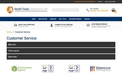 Screenshot of Support Page wtdit.com - Customer Service - captured Oct. 22, 2017