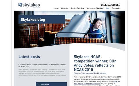 Screenshot of Blog skylakes.co.uk - Blog | Skylakes Social Work - captured Feb. 4, 2016
