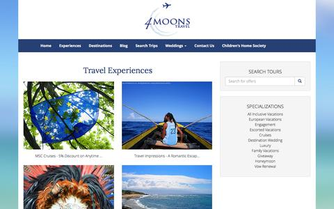 Screenshot of Products Page 4moonstravel.com - Our Products - captured Jan. 12, 2016