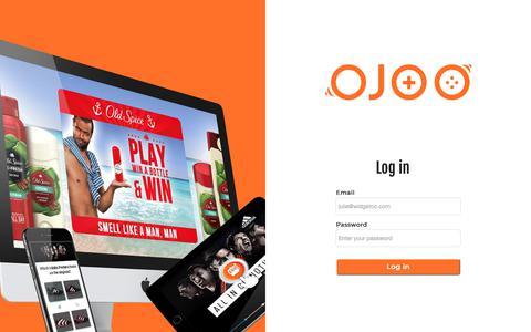 Screenshot of Login Page ojoo.com - OJOO studios - captured Nov. 7, 2018