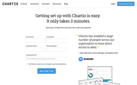 Chartio is a cloud-based data exploration solution for all