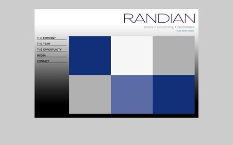 Screenshot of Home Page randianllc.com - Randian - captured Oct. 9, 2014