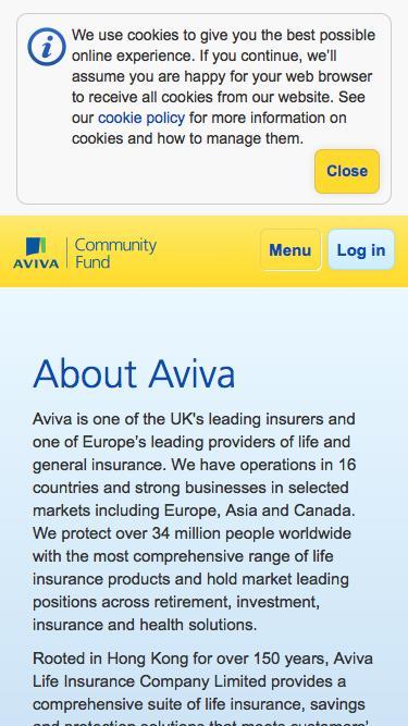 About Aviva   Aviva Community Fund