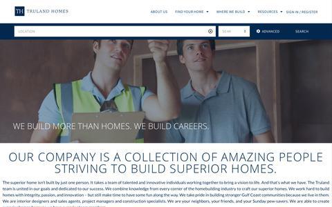 Screenshot of Jobs Page trulandhomes.com - Careers - Truland Homes - captured Nov. 6, 2019