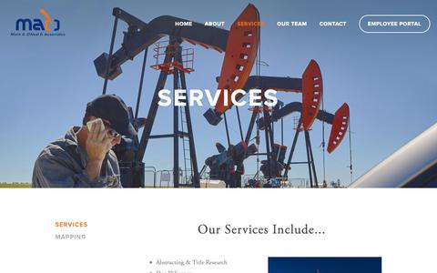 Screenshot of Services Page markaoneal.com - Services — Mark A. O'Neal & Associates, Inc. - captured Oct. 16, 2018