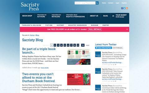 Screenshot of Blog sacristy.co.uk - Blog - Sacristy Press - captured Oct. 2, 2017