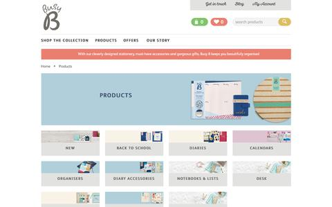 Screenshot of Products Page busyb.co.uk - Products | Busy B - captured Aug. 30, 2017