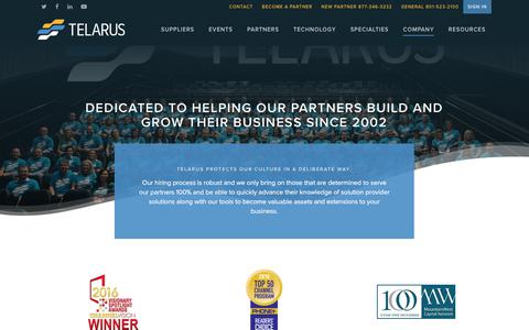Screenshot of Team Page telarus.com - Company - Telarus - captured May 14, 2018