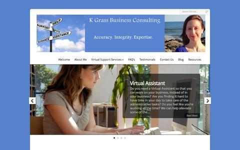 Screenshot of Home Page kgbusco.com - Social Media Marketing | Internet Marketing | WordPress Websites - captured Oct. 3, 2014