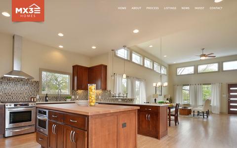 Screenshot of Home Page mx3homes.com - MX3 Homes - Central Austin Homebuilder - captured Jan. 21, 2015
