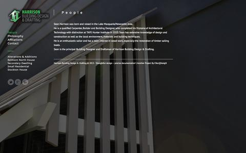 Screenshot of Team Page harrisonbuildingdesign.com.au - People « www.harrisonbuildingdesign.com.au www.harrisonbuildingdesign.com.au - captured Oct. 2, 2014