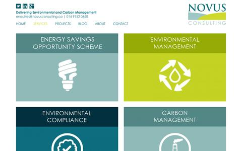 Screenshot of Services Page novusconsulting.co - Novus Environmental Services | Environmental Management - captured Nov. 3, 2014