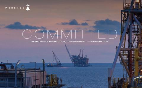 Screenshot of Home Page perenco.com - Perenco - Oil and Gas   A Leading Independent Exploration and Production Company - captured July 19, 2015