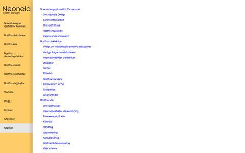 Screenshot of Site Map Page neonela-kitchen.se - Sitemap - captured Oct. 26, 2014
