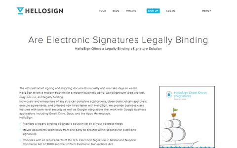 Are Electronic Signatures Legally Binding