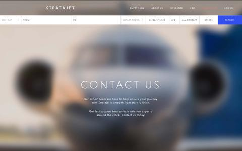 Screenshot of Contact Page stratajet.com - Contact Us for a Private Jet Charter Quote | Stratajet - captured June 14, 2017