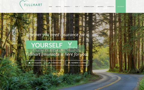 Screenshot of Products Page fullhartinsurance.com - Insurance Agency in Northwest, NW - Fullhart Insurance Agency - captured Oct. 14, 2017