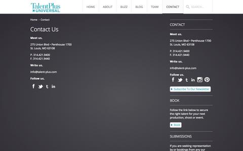 Screenshot of Contact Page talentpl.us - Contact Us - captured Oct. 7, 2014