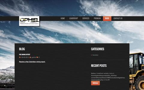 Screenshot of Blog ophirmri.com - OphirMRI   OPHIR Mining Resources & Investment - captured Oct. 6, 2014
