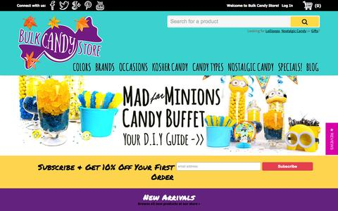 Screenshot of Home Page bulkcandystore.com - Bulk Candy Store - Home of the Best Candy Variety & Prices Online | Bulk Candy Store - captured Oct. 1, 2015