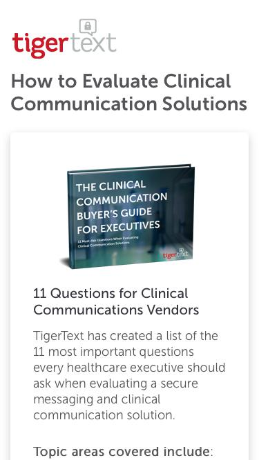Clinical Communication Buyer's Guide for Executives TigerText Guide
