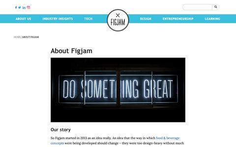 Screenshot of About Page figjamco.com - Figjam - Knowledge platform for the global F&B Industry - captured Nov. 14, 2018