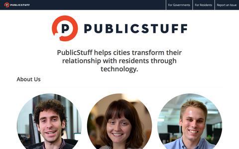 Screenshot of About Page publicstuff.com - PublicStuff - captured Dec. 2, 2015