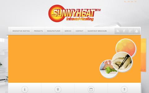 Screenshot of Products Page sunnyheat.com - Products - captured Oct. 10, 2016