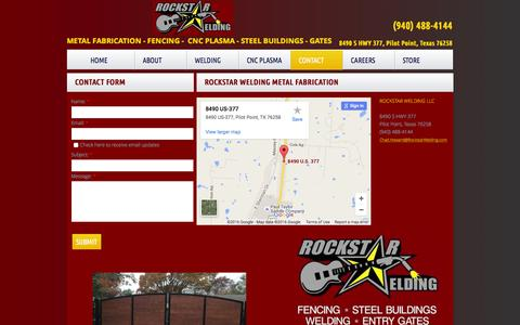 Screenshot of Privacy Page Contact Page rockstarwelding.com - Rockstar Welding : Contact - captured Feb. 27, 2016