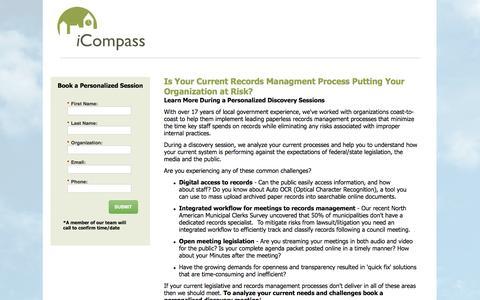 Screenshot of Landing Page icompasstech.com - Contact Us | iCompass Technologies - captured May 20, 2016